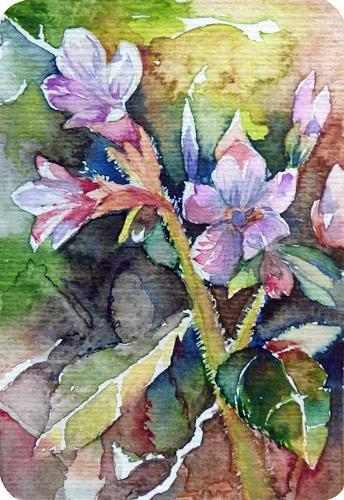 Frank Koebsch, Erstes Bunt, Pflanzen: Blumen, Natur: Erde, Gegenwartskunst