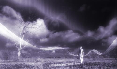 Ronny Strehmann, Transcend, Menschen: Mann, Landschaft: Ebene, Expressionismus