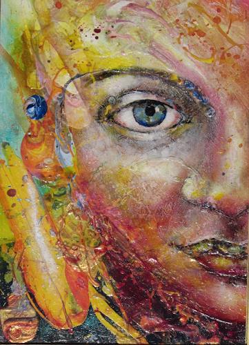 Elke Henning, Nur ein Blick, Menschen: Gesichter, Abstraktes, Gegenwartskunst, Abstrakter Expressionismus