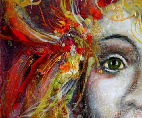 Elke Henning, Ausschnitt, Menschen: Gesichter, Fantasie, expressiver Realismus