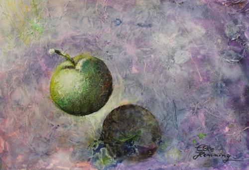 Elke Henning, Grüner Apfel, Ernte, Essen, Konkrete Kunst