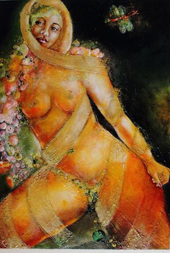 Elke Henning, Goldene Lisa, Akt/Erotik: Akt Frau, Fantasie, Jugendstil, Abstrakter Expressionismus