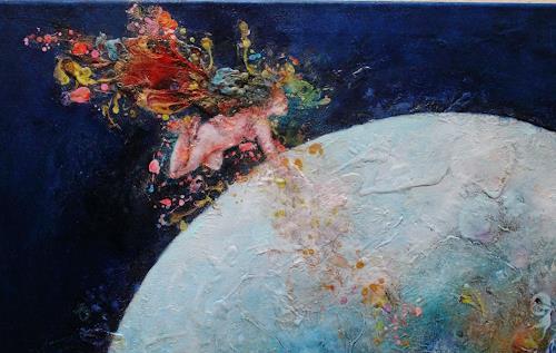 """Elke Henning, Ausschnitt """"Die Rettung der Erde, Fantasie, Expressionismus"""