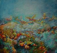 Elke-Henning-Natur-Erde-Natur-Wasser-Moderne-Andere-Neue-Figurative-Malerei