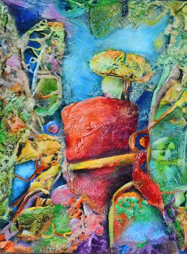 Elke Henning, Baumgeist, Fantasie, Natur: Wald, Abstrakte Kunst, Expressionismus