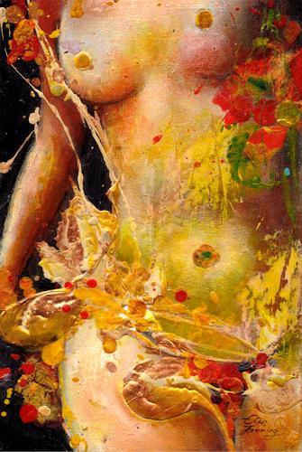 Elke Henning, Lara, Akt/Erotik: Akt Frau, expressiver Realismus, Expressionismus