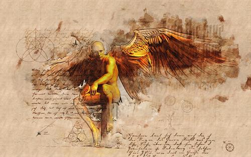 Alexander, Angel, Mythologie, Fantasie, Moderne, Expressionismus