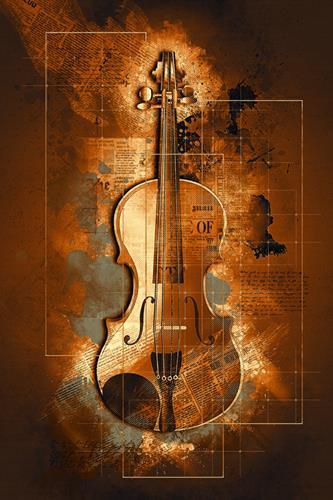 Alexander, Die Geige, Dekoratives, Moderne