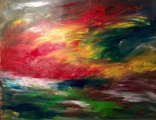 Raphael Walenta, O/T, Landschaft, Fantasie, Abstrakte Kunst