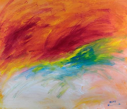Raphael Walenta, Ohne Titel, Abstraktes, Landschaft: Frühling, Action Painting