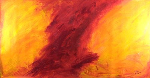 Raphael Walenta, Ohne Titel, Landschaft: Frühling, Abstraktes, Action Painting