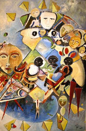 Thomas Joerger, 3 schwarze Babys, Menschen: Gruppe, Diverse Gefühle, Gegenwartskunst