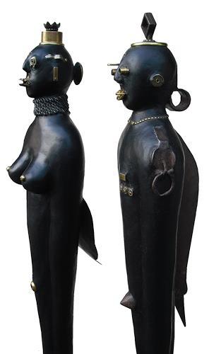 Thomas Joerger, Rey y Reyna, Menschen: Paare, Dekoratives, Gegenwartskunst, Abstrakter Expressionismus