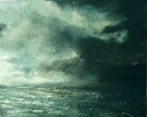 Uwe Zimmer, September 2009, Natur: Luft, Landschaft: See/Meer, Neo-Impressionismus, Abstrakter Expressionismus