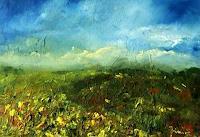 Uwe-Zimmer-Landschaft-Ebene-Landschaft-Fruehling-Moderne-Impressionismus-Postimpressionismus