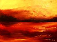 Uwe-Zimmer-Landschaft-See-Meer-Landschaft-See-Meer-Moderne-Impressionismus-Neo-Impressionismus