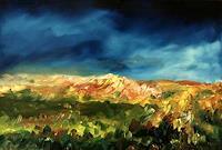 Uwe-Zimmer-Landschaft-Huegel-Landschaft-Fruehling-Moderne-Impressionismus-Postimpressionismus