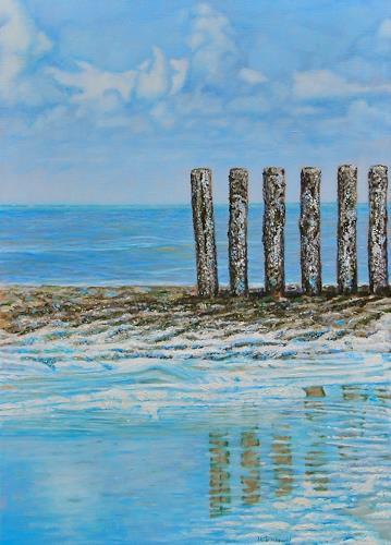 Heino Karschewski, 6 Pilaster, Natur: Wasser, Diverses, Gegenwartskunst