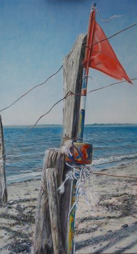 Heino Karschewski, Flagge 2, Natur: Wasser, Diverses, Gegenwartskunst