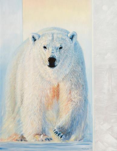 Heino Karschewski, Eisbär, groß, Diverse Tiere, Natur: Wasser, Realismus, Expressionismus