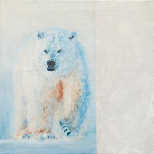 Heino Karschewski, Einbär 1, klein, Tiere: Land, Natur: Wasser, Realismus