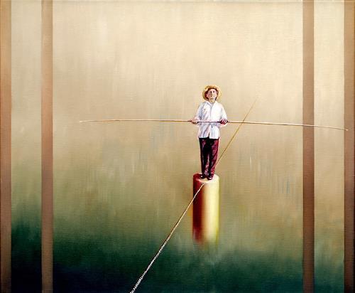 Heino Karschewski, kleine Pause, Diverse Menschen, Fantasie, Gegenwartskunst, Expressionismus