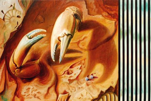 Heino Karschewski, Das ganze Leben ist ein Spiel, Tiere: Wasser, Fantasie, Gegenwartskunst, Abstrakter Expressionismus