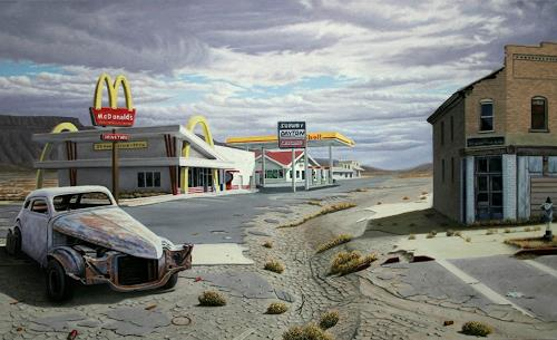Manfred Hönig, The Age of Junk Food, Verkehr: Auto, Diverse Landschaften, Postmoderne, Abstrakter Expressionismus