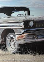 Manfred-Hoenig-Verkehr-Auto-Landschaft-Ebene-Moderne-Fotorealismus