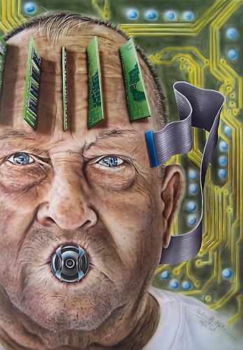Markus M. Müller - 5M, Weisheit des Alters, Menschen: Mann, Gesellschaft, Hyperrealismus, Abstrakter Expressionismus