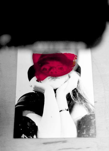 """Sandra Robertz, ...aus der Reihe """"RETRO"""" oder """"Rosarote Brille"""", 2015, Menschen: Porträt, Humor, Abstrakter Expressionismus"""