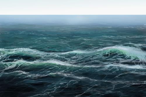 Sandra Robertz, Ocean, Landschaft: See/Meer, Landschaft: Strand, Gegenwartskunst