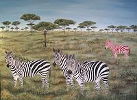 Haike-Espenhain-Gesellschaft-Tiere-Land-Moderne-Abstrakte-Kunst