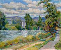 Willi-Ruf-Landschaft-Sommer-Diverse-Landschaften-Moderne-Impressionismus
