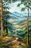 Willi-Ruf-Landschaft-Berge-Moderne-Impressionismus