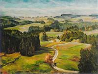 Willi-Ruf-Landschaft-Herbst-Moderne-Impressionismus