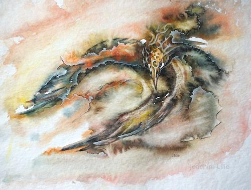 Joachim Lilie, Phoenix, Fantasie, Mythologie, Postsurrealismus, Expressionismus