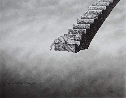 Joachim Lilie, Schattenseite, Fantasie, Gesellschaft, Postsurrealismus, Abstrakter Expressionismus