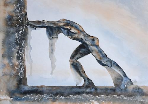 Joachim Lilie, Gegen an, Gesellschaft, Menschen: Mann, Gegenwartskunst, Abstrakter Expressionismus