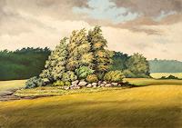 Joachim-Lilie-Landschaft-Ebene-Pflanzen-Baeume-Neuzeit-Realismus