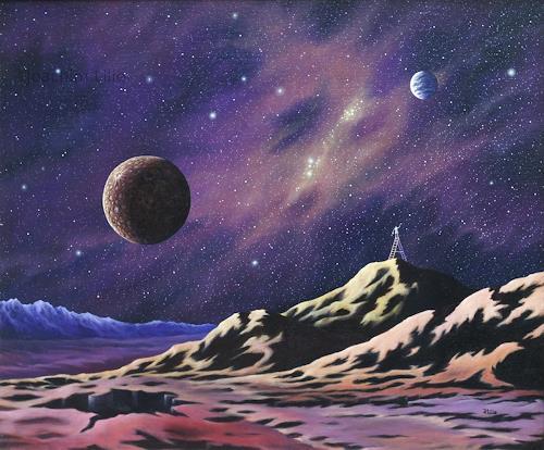 Joachim Lilie, Der Maler und sein Universum, Fantasie, Weltraum: Gestirne, Postsurrealismus, Expressionismus