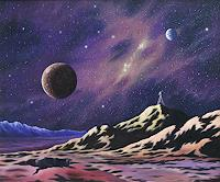 Joachim-Lilie-Fantasie-Weltraum-Gestirne-Gegenwartskunst-Postsurrealismus