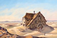 Joachim-Lilie-Landschaft-Fantasie-Gegenwartskunst-Postsurrealismus