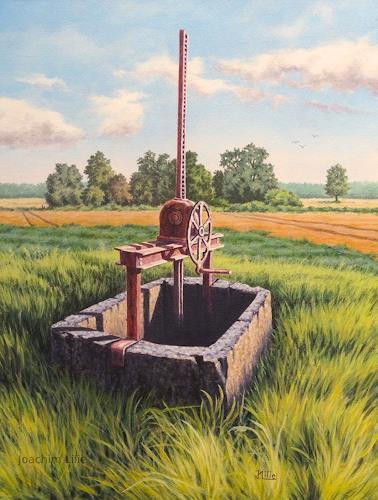 Joachim Lilie, Altes Wehr, Landschaft: Sommer, Landschaft: Ebene, Realismus