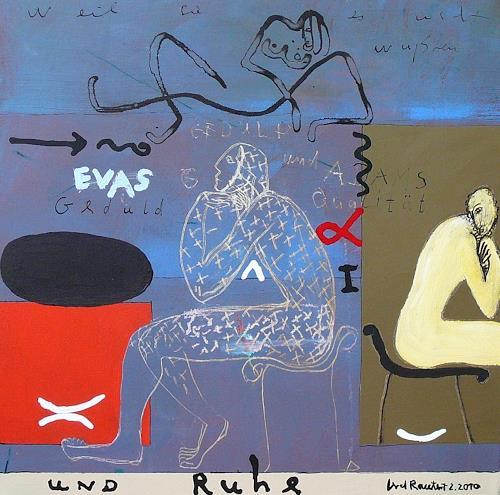gerd Rautert, evas geduld und adams qualität, Poesie, Religion, Expressionismus, Abstrakter Expressionismus