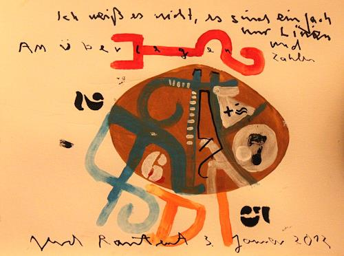 gerd Rautert, ein ungeschriebenes gedicht von G., Zeiten: Zukunft, Expressionismus, Abstrakter Expressionismus
