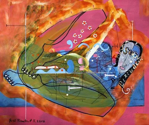 gerd Rautert, Mai-Bild, Menschen: Frau, Expressionismus, Moderne