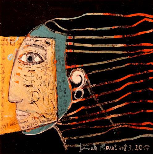 gerd Rautert, bin bei dir, Glauben, expressiver Realismus, Abstrakter Expressionismus