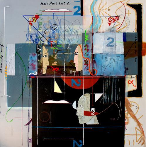 gerd Rautert, mein haus bist du, Gefühle: Geborgenheit, Expressionismus, Abstrakter Expressionismus