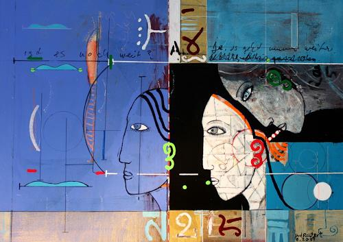 gerd Rautert, wer oder was sieht durch wen, Situationen, Expressionismus, Abstrakter Expressionismus
